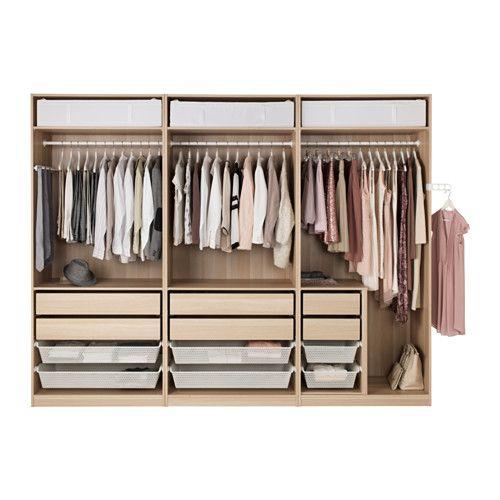 Pax armoire penderie effet ch ne blanchi nexus vikedal ikea penderie pax - Ikea penderie dressing ...