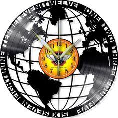 Horloge vinyle décoration Monde