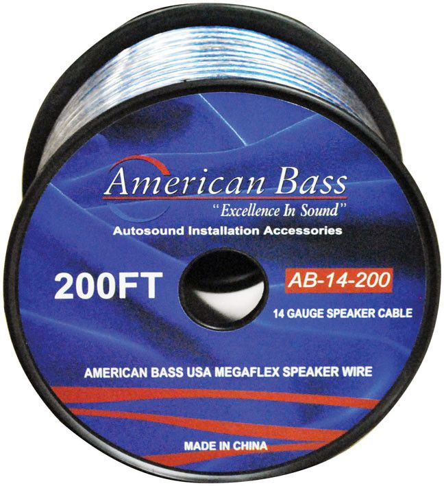 American Bass 14 Gauge 200Ft Megaflex Speaker Wire