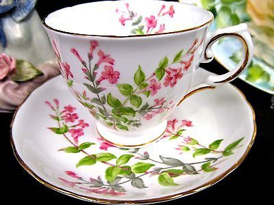 TUSCAN TEA CUP AND SAUCER FLORAL PRETTY PATTERN TEACUP