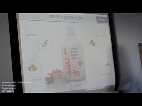 Νέο διατροφικό σκεύασμα Delixir Ultra Slim+ το οποίο καταπολεμά την παχυσαρκία με 6 αποτελεσματικούς τρόπους: 1. Θερμογενετικά  2. Επιτάχυνση μεταβολισμού  3. Αίσθημα κορεσμού  4. Δημιουργία αρνητικών θερμίδων  5. Λιποτροπικά  6. Αποσυμφόρηση λεμφικού συστήματος.