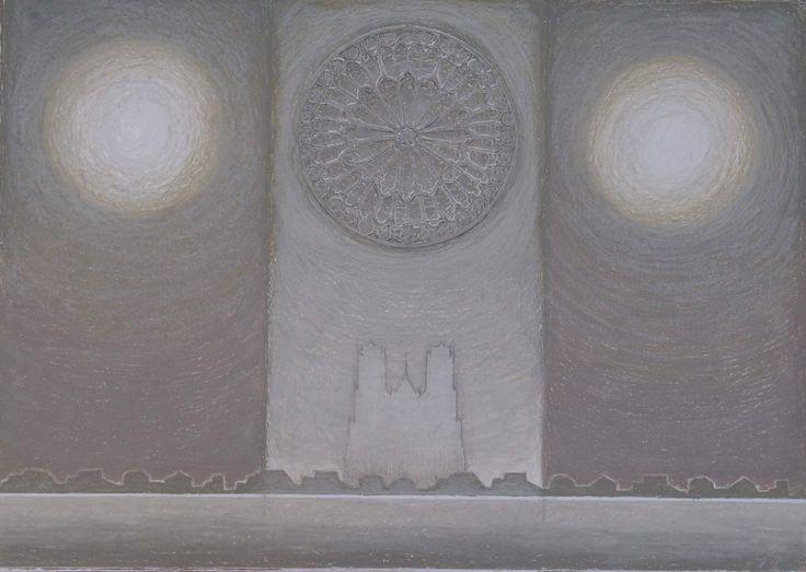 Grey 6-2005, 50x70, oil pastels