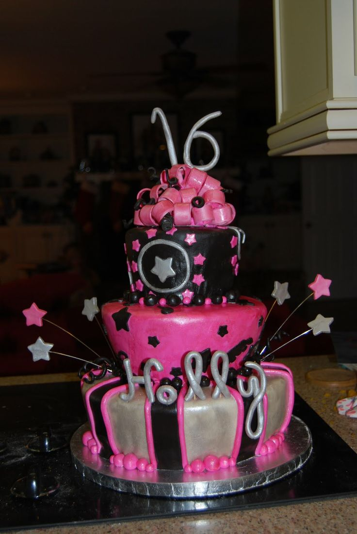 17 Best Images About Sweet 16 Cake Ideas On Pinterest