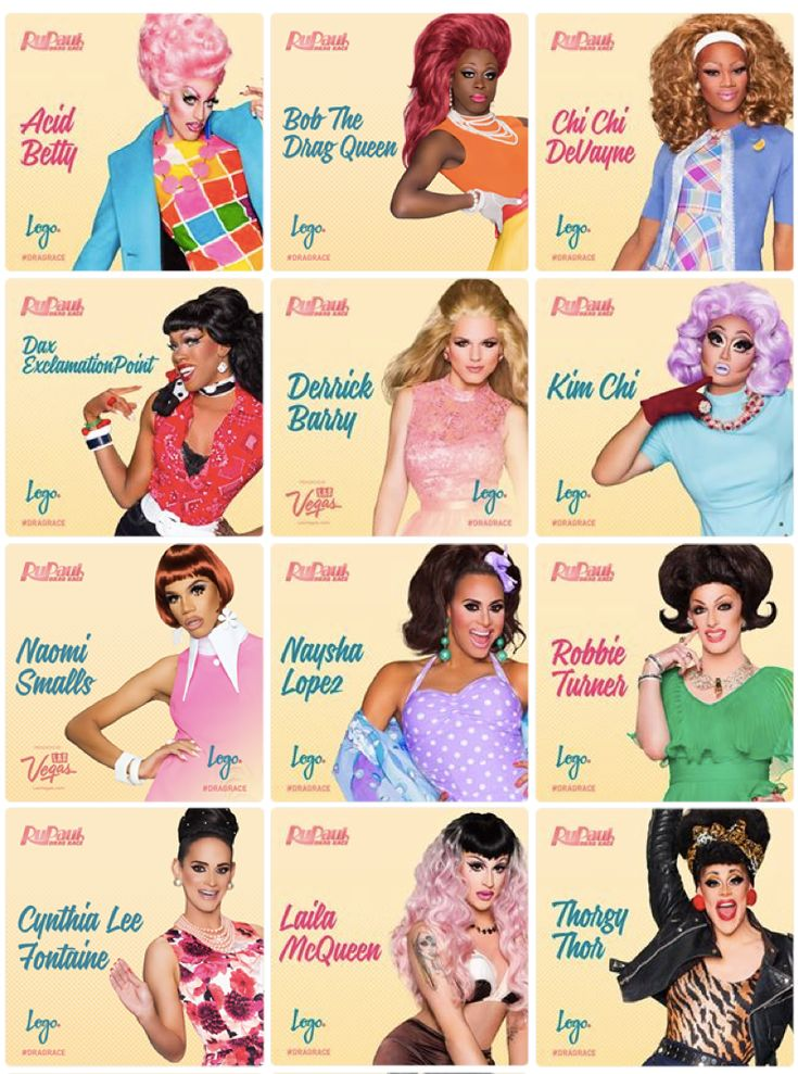 RuPaul's Drag Race Season 8 Queens Acid Betty Cha Cha DeVayne Kim Chi Derrick Barry Dax Exclamationpoint Naomi Smalls Thorgy Thor Robbie Turner Naysha Lopez Cynthia Lee Fontaine Bob The Drag Queen