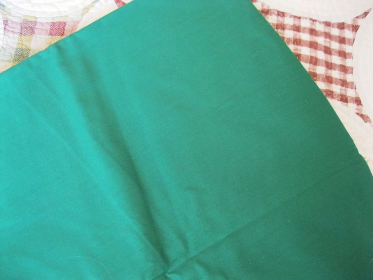 """$9.99 4 yds Vintage Christmas Kelly Green Fabric Polyester & Cotton Blend  44"""" Wide by BrightEyesKreations on Etsy"""