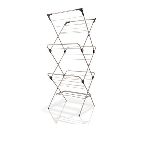 Karoo 14M Clothes Dryer Price: R599.95  3 tiers. Folds flat for easy storage. 4 hanger corners – ideal for coat hangers. 14m drying space.