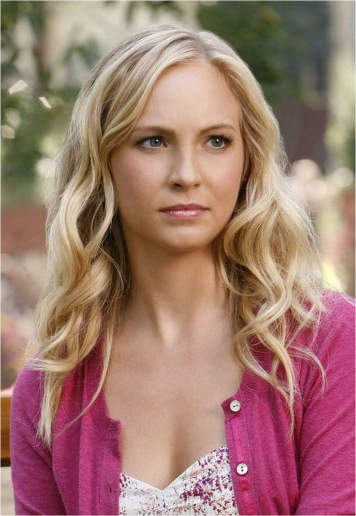 Candice Accola as Caroline Forbes. She has the BEST hair!