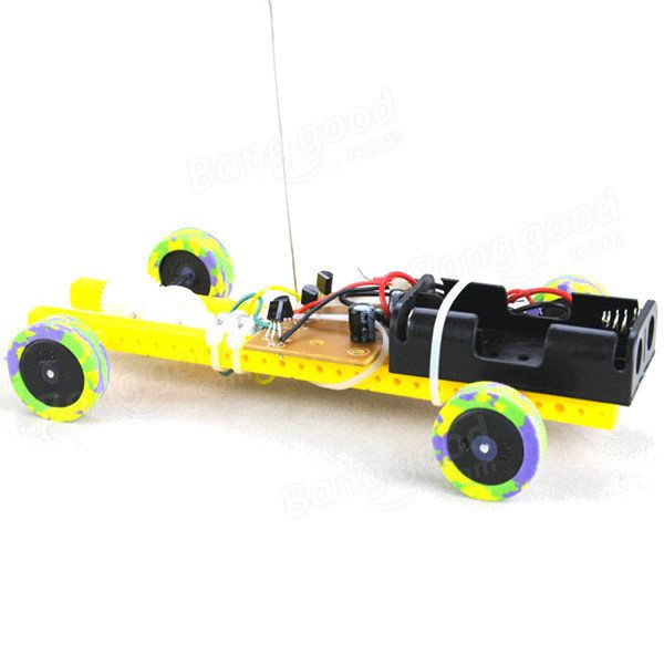 DIY Two-way Remote Control Car Kit Model Assembly Toy