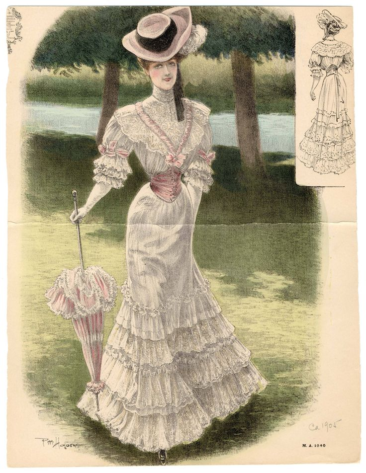 Women,1896-1905 Oversized, Plate 052.Metropolitan Museum of Art (New York, N.Y.). CostumeInstitute.Costume InstituteFashion Plates. #costume #fashion #hats