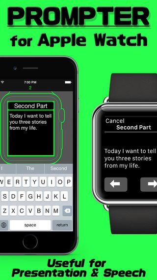 Prompter Watch - a simple app for creating your own story or sequence of instructions for on the go access via Apple Watch