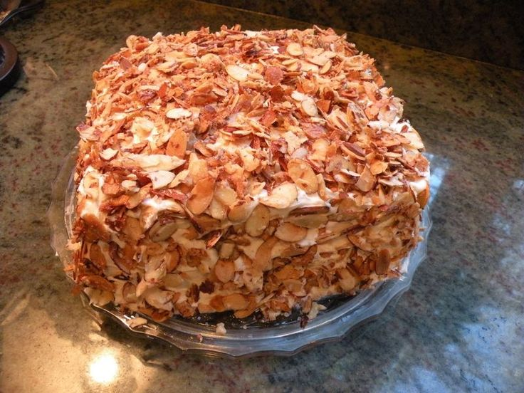 Prantl's Burnt Almond Torte (supposedly from a former Prantl's employee)
