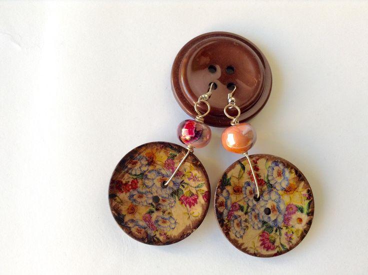 Buttons earrings!!!!
