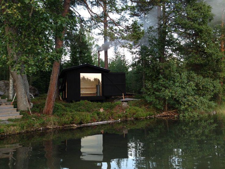 Sometimes I long for summer and our little sauna #hälsingland #greatplace #sauna