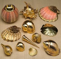 Glitters n gold seashell