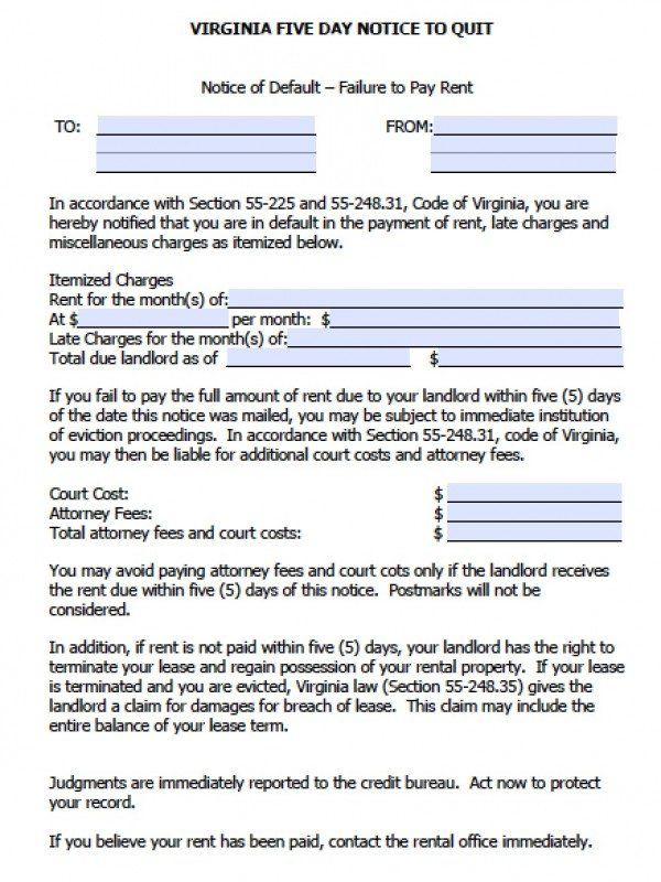 Free Notice To Vacate Sample Eviction Notice For Nonpayment Of Rent  Template  Pinterest .