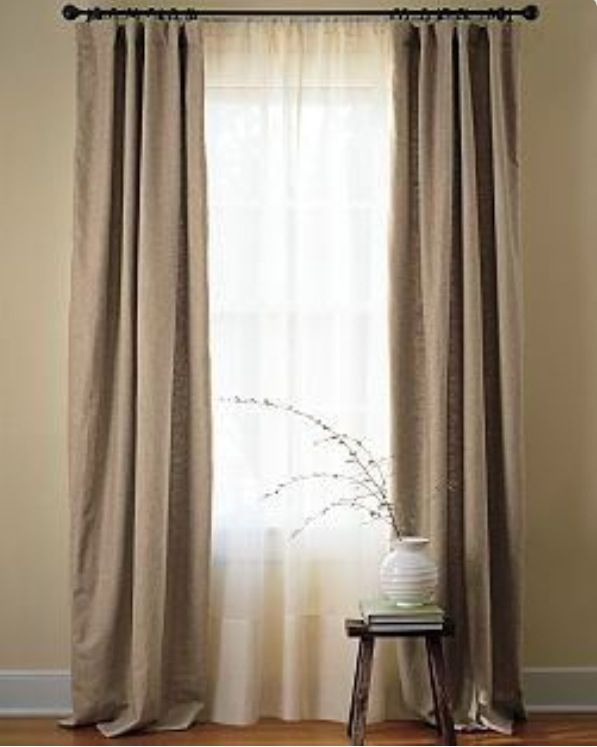Long Paneled Curtains With White Sheers Home Decor