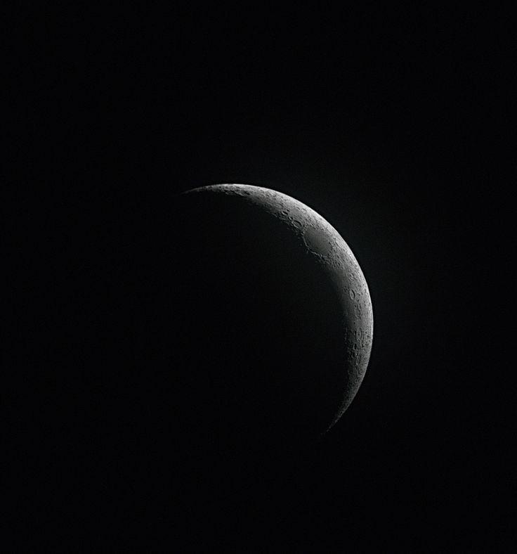 Lua crescente. | 24 fotos impressionantes da Terra e do Espaço