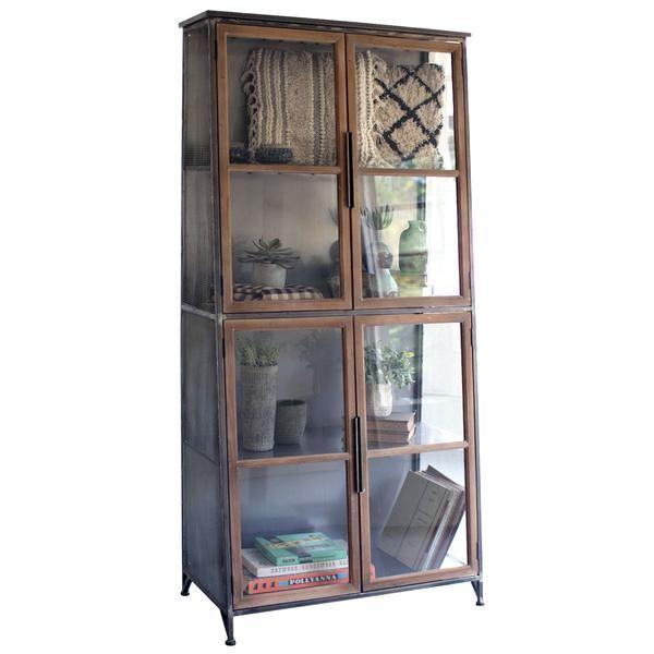 Industrial Modern Glass Door Storage Cabinet Bookcase Door Storage Cabinet Door Storage Glass Cabinet Doors