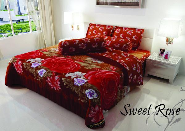 "SWEET ROSE - ""Motif bunga mawar yang memikat ini berpaduan dengan warna coklat yang manis, untuk menjanjikan keromantisan di tempat tidur anda"""