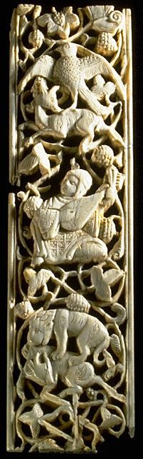 Fatimid lute player on an ivory panel, 11th-12th century Panel with lute player. 11th-12th century. Egypt. Ivory, carved and incised decoration, traces of paint. Louvre Museum, Department of Islamic Art, Richelieu, room 3. Fatimid Musicians, Dancers & Revelers