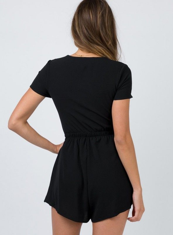 344db1d73a Black Sweet Sahara Tie Front Playsuit