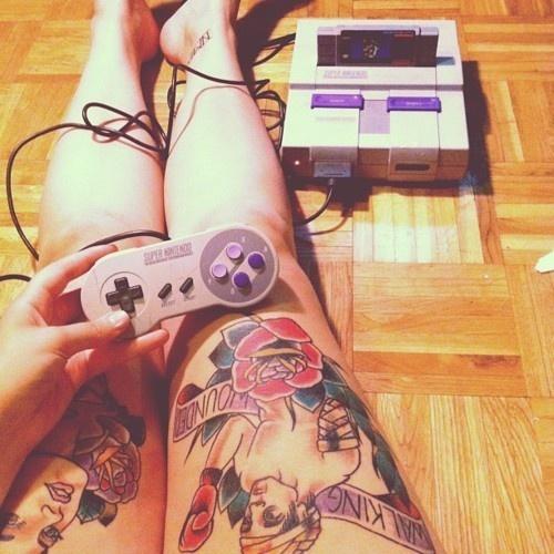 leg tattoos <3