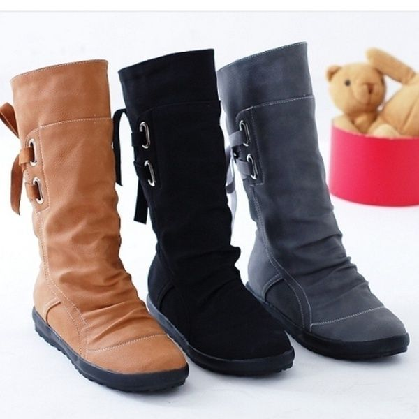 Trend Low Heel Boots//Belt Buckle//Winter Warm Boots//Large Size Shoes Shoes 34-43 Womens Boots