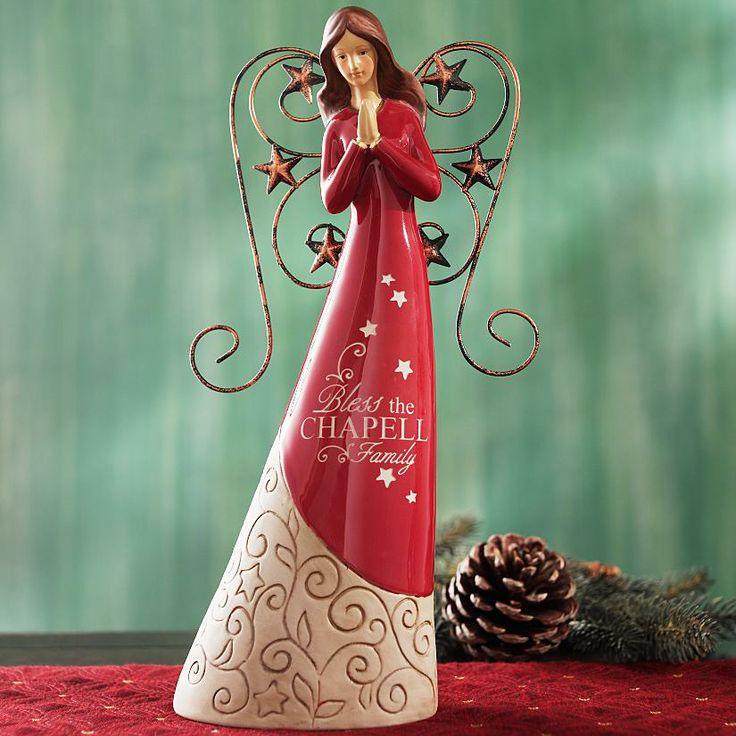 Christmas Angels | Red Angel Figurine