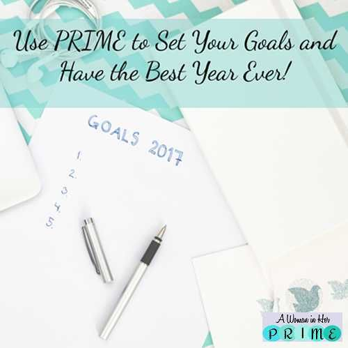There's more than one important area in your life. Plan for it and make it the best it can be. http://www.awomaninherprime.com/using-prime-to-set-your-goals/