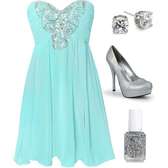 : Fashion, Style, Bridesmaid Dresses, Color, Wedding, Tiffany Blue, Outfit