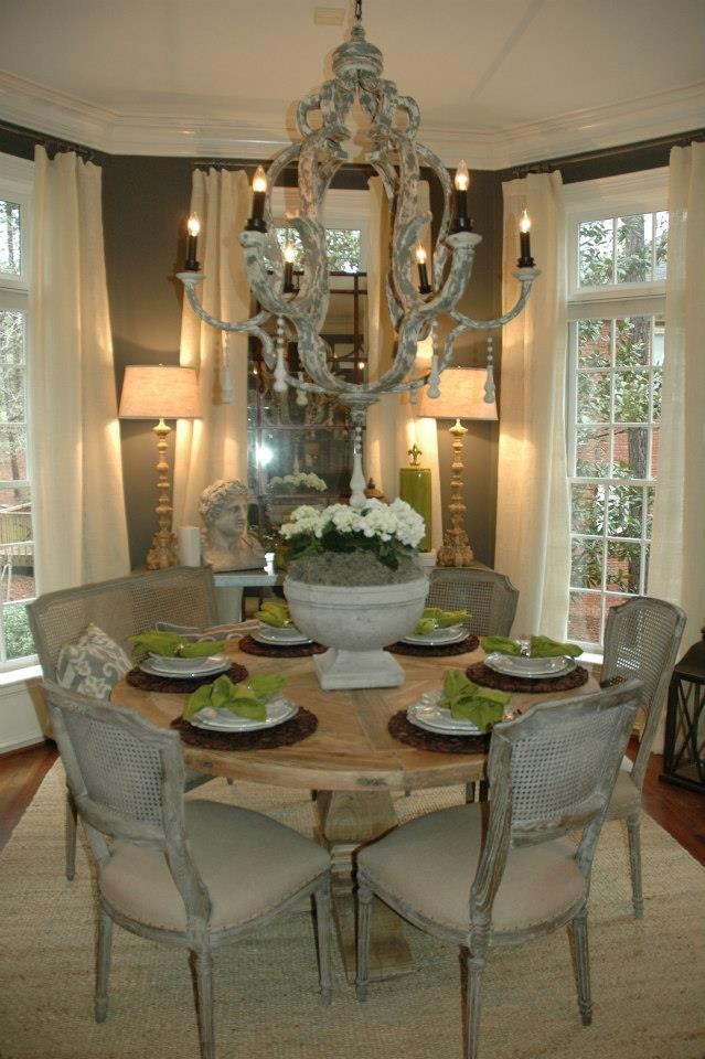 Show Rooms For Cream Dining Sets Round Table