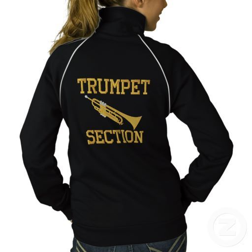 Embroidered Trumpet Section Jacket marching band gift idea #trumpet
