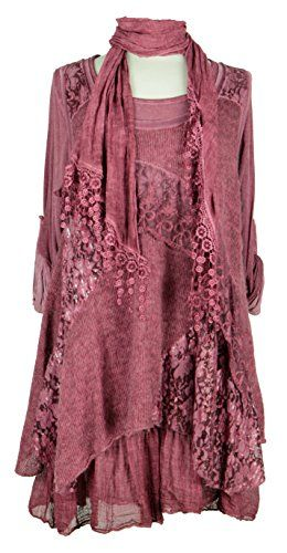 Ladies Womens Italian Lagenlook Quirky Layering 3 Piece Sequin Lace Knit Mohair Long Sleeves Scarf Tunic Top Dress One Size Plus (UK 10-20) (One Size Plus, Burgundy) Generic http://www.amazon.co.uk/dp/B00NWMZ8KU/ref=cm_sw_r_pi_dp_gCG7ub159CXE2