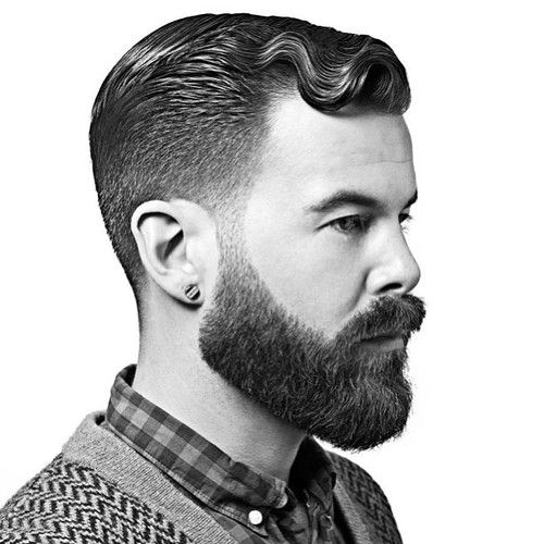 Cut: graduation cut with a dramatic interior. Color: level 1-3 Styling products: Redken for Men maneuver, and Get Groomed.