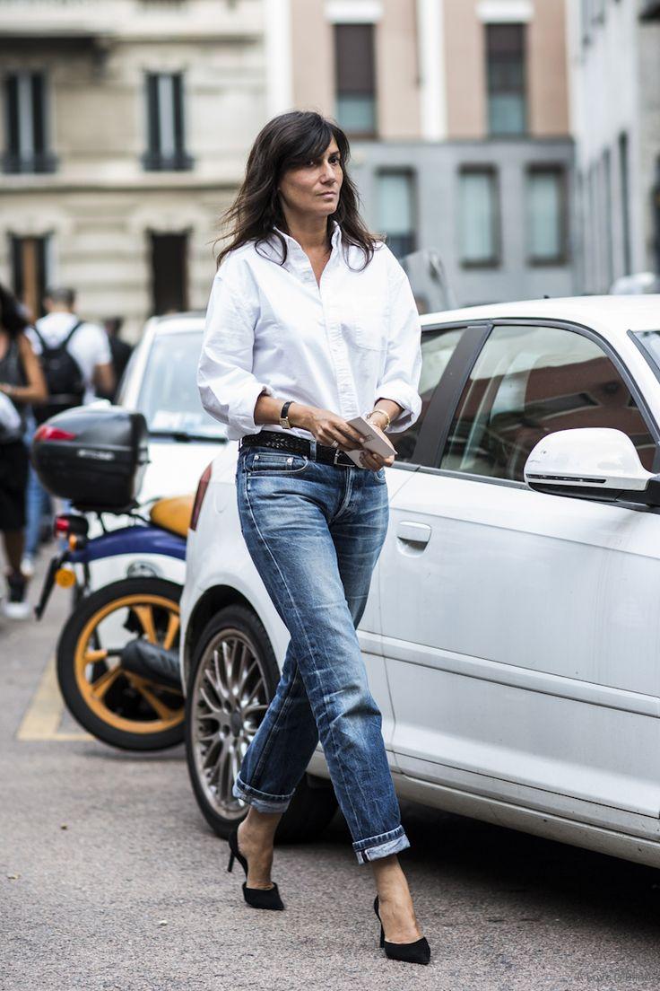 128 best Blue Jeans, White Shirt. images on Pinterest   White ...