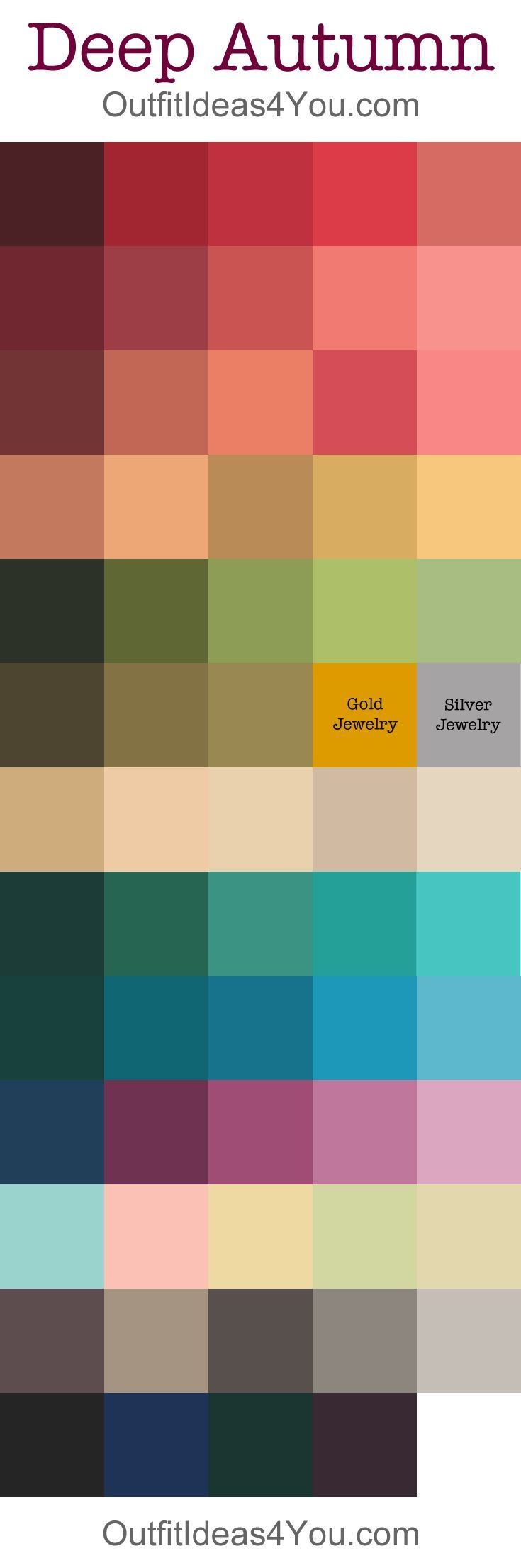 Deep Autumn Color Palette @outfitideas4u.... realy liked this  pallete
