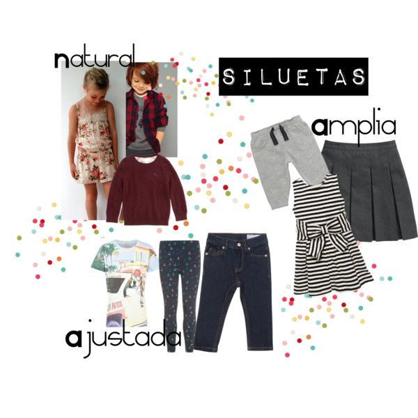 siluetas by maygomezp on Polyvore featuring moda, Kate Spade, Polarn O. Pyret and River Island