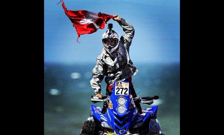 DAKAR 2013  Nunca antes un piloto peruano había ganado una etapa del Dakar. Ignacio Flores lo consiguió en cuatrimotos esta tarde. Viva el Perú!!!