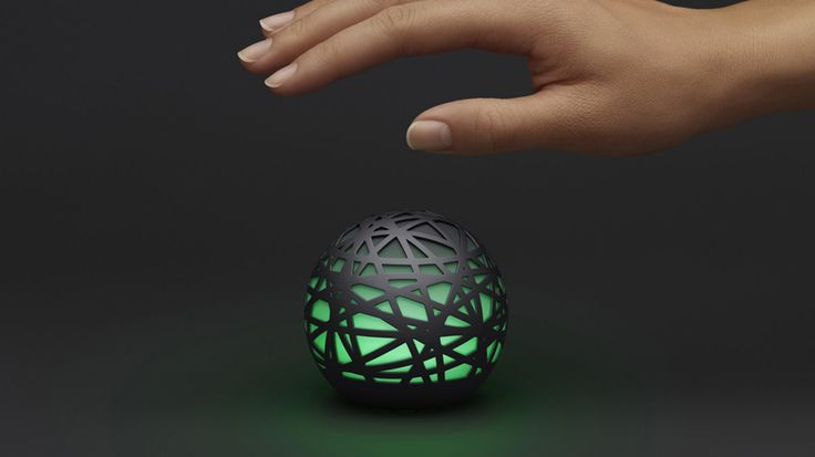 Sense is a glowing sphere that watches over you while you sleep ~monitors sleep patterns, temperature, light, motion, humidity, sound, and even the particle counts for pollen and dust in the air. When you glance at the app in the morning, it displays a timeline of the prior evening.