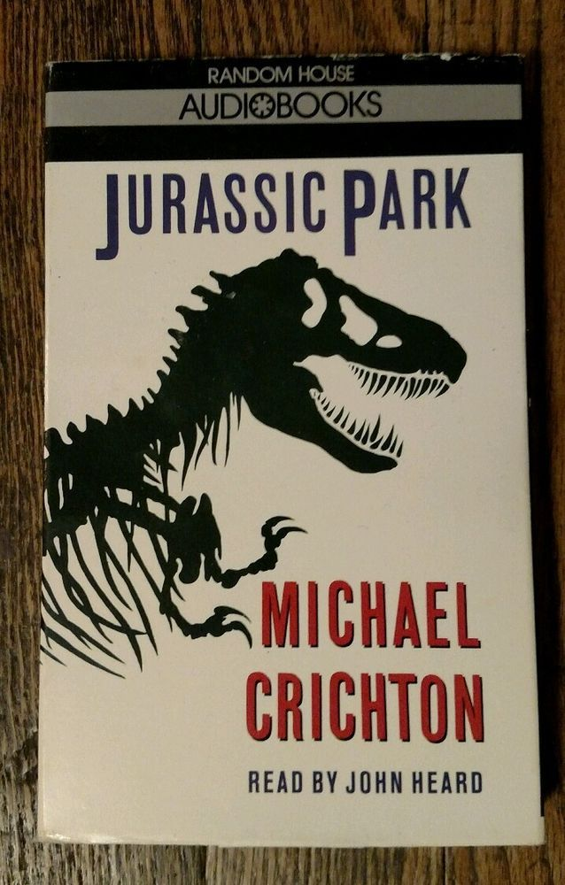 Jurassic Park by Michael Crichton Audiobook (Cassette, Random House, 1990)