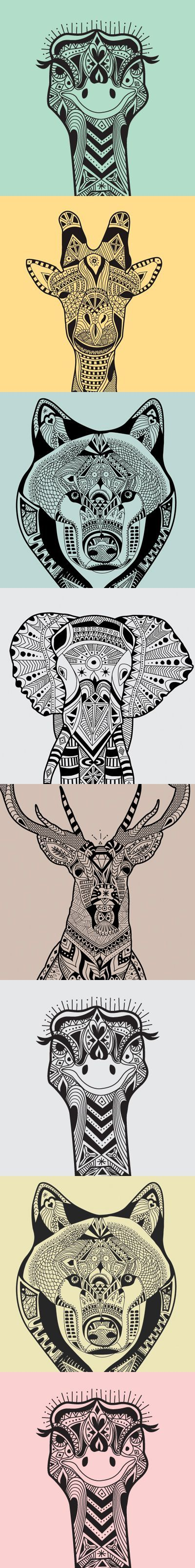 wild animals zentangle patterns - Zentangle - More doodle ideas - Zentangle - doodle - doodling - zentangle patterns. zentangle inspired - #zentangle #doodling #zentanglepatterns #Zentangle #Doodling #Zentanglepatterns