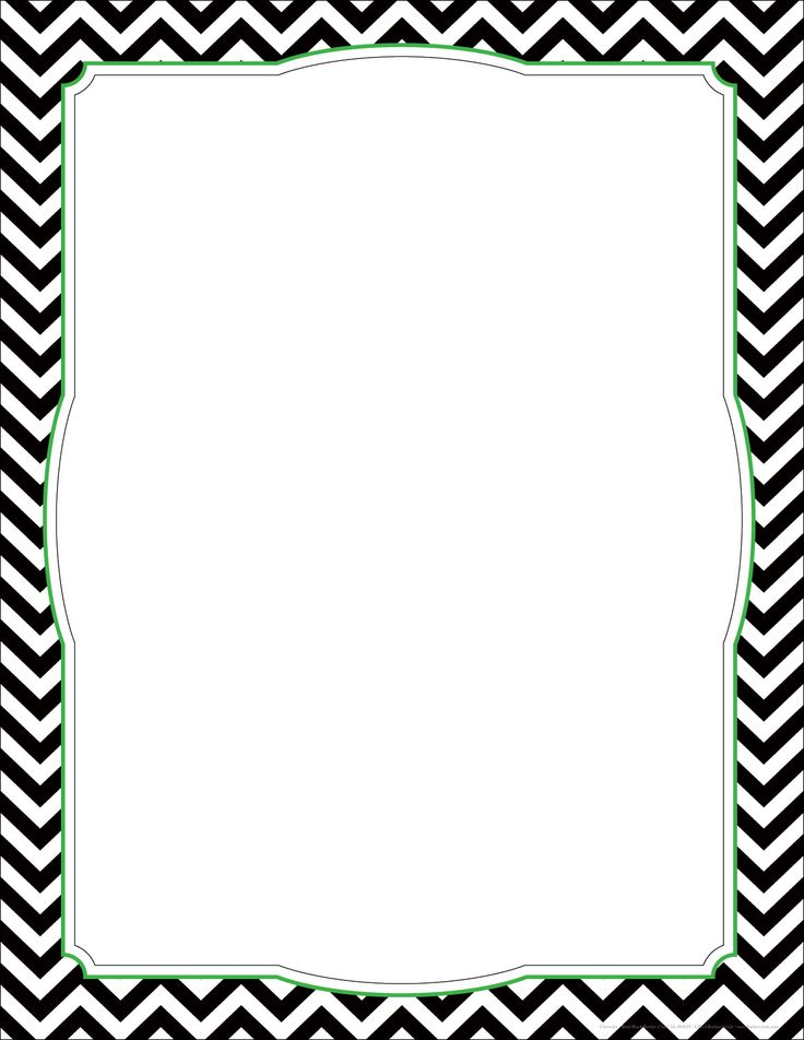 chevron borders template