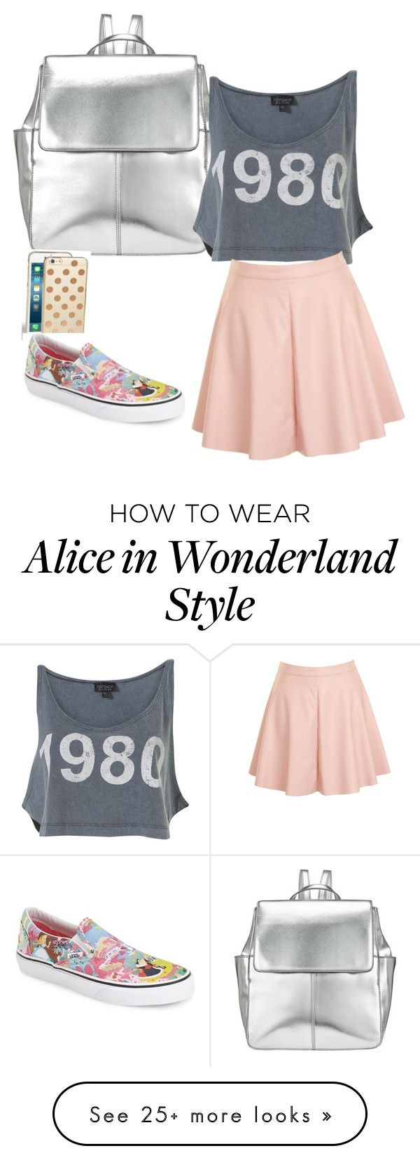 """shopping outfit"" by jameeclements on Polyvore featuring Kin by John Lewis, Glamorous, Kate Spade and Vans"
