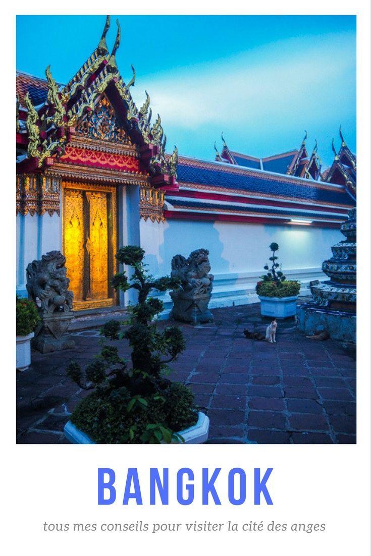 Que faire à Bangkok? Le guide pratique complet pour visiter Bangkok: pourquoi se rendre à Bangkok, arriver à Bangkok, que faire et que visiter à Bangkok, bonnes adresses à découvrir, où dormir à Bangkok, tous mes conseils pratique pour un premier voyage en Thaïlande, les incontournables de Bangkok, Bangkok hors des sentiers battus, voyager seule à Bangkok... Préparer votre voyage en Thaïlande aujourd'hui! #voyage #thaïlande #bangkok #guidepratique #citédesanges #temple #watpho