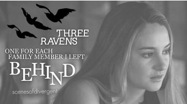 Tris in Divergent ... One for each member I left behind ...