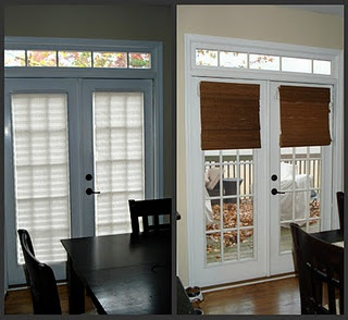 French doors bamboo shades on pinterest window treatments bamboo