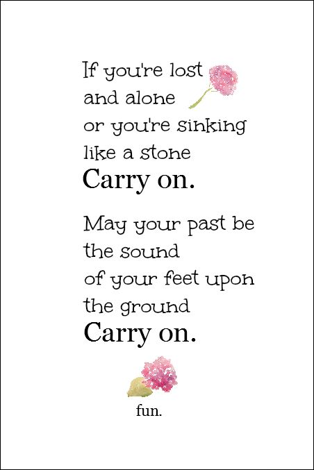 Carry On Free Printable   On Sutton Place