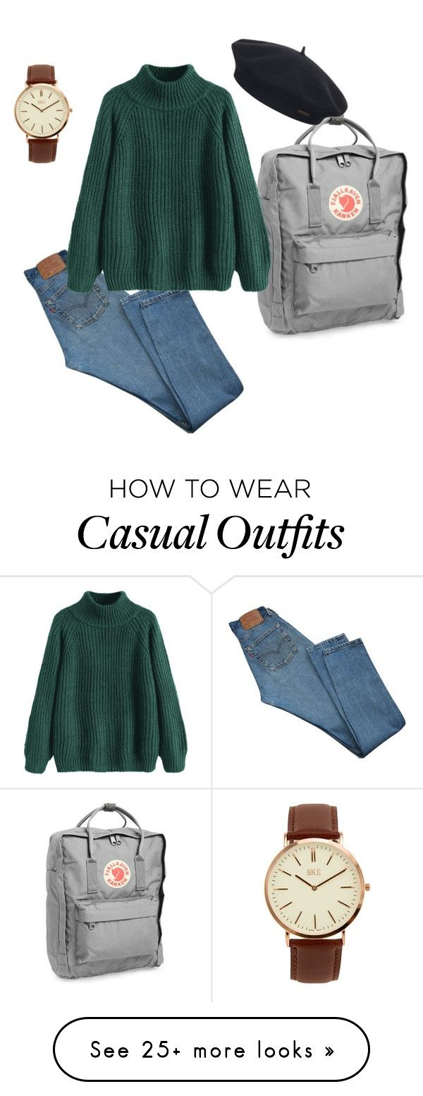 """Casual"" by poppyseedemma on Polyvore featuring Levi's, Fjällräven, Element and BKE"