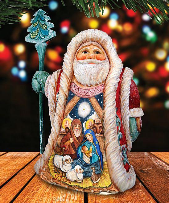 Regal Nativity Santa Figurine