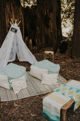 Camp Navarro is a woodland wedding venue in California. The perfect backdrop for bohemian camp weddings and tipi lounges. Photo: Tyler Branch